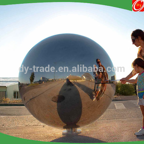 Creative mirror stainless steel sphere post box ,stainless steel ball mailbox