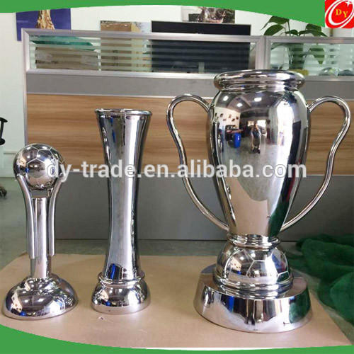Golden stainless steel football trophy sculpture ,stainless steel cup