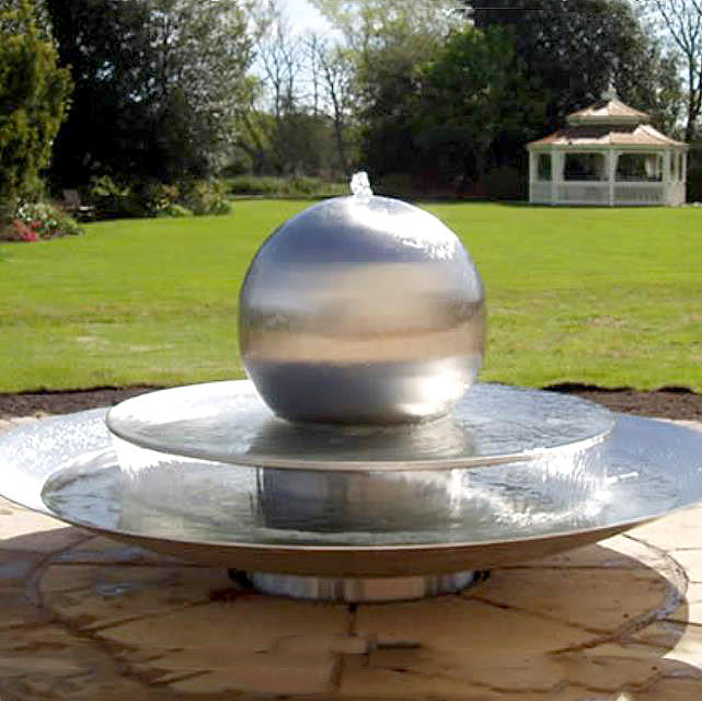 Stainless Steel Gazing Sphere Landscape Water Fountain