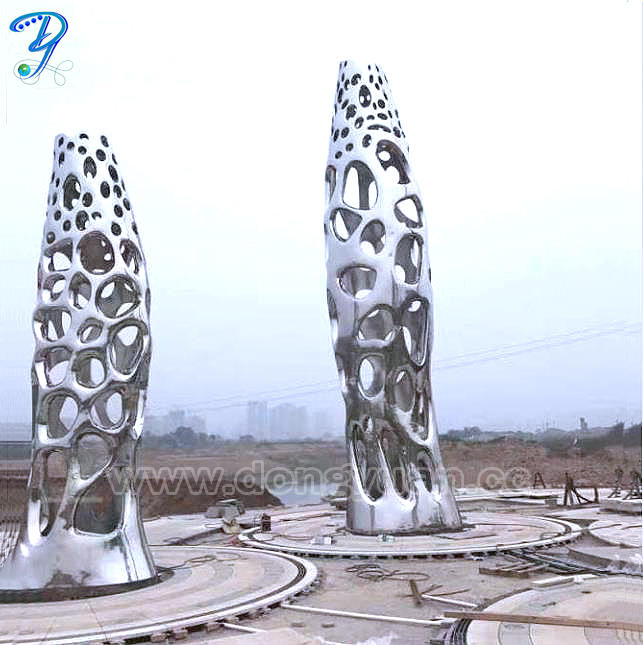 Abstract Contemporary or Modern OutdoorGarden / Yard Metal Fish Sculptures Statues statuary
