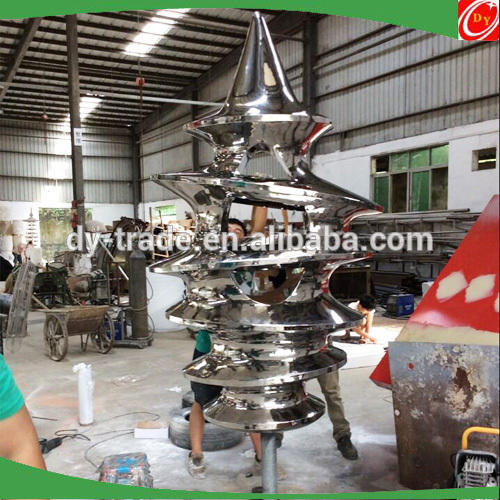 Christmas tree stainless steel sculpture,stainless steel sculpture for christmas decoration