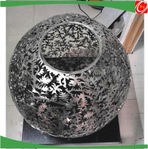stainless steel hanging orbs light, steel balls for villa construction