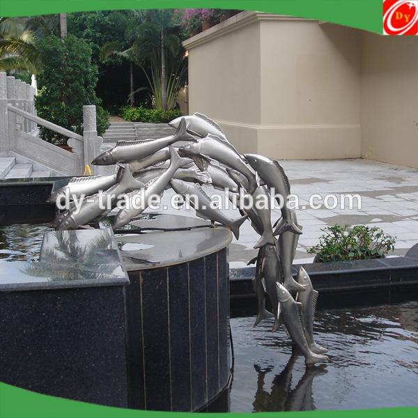 Hot sale modern stainless steel fish sculpture