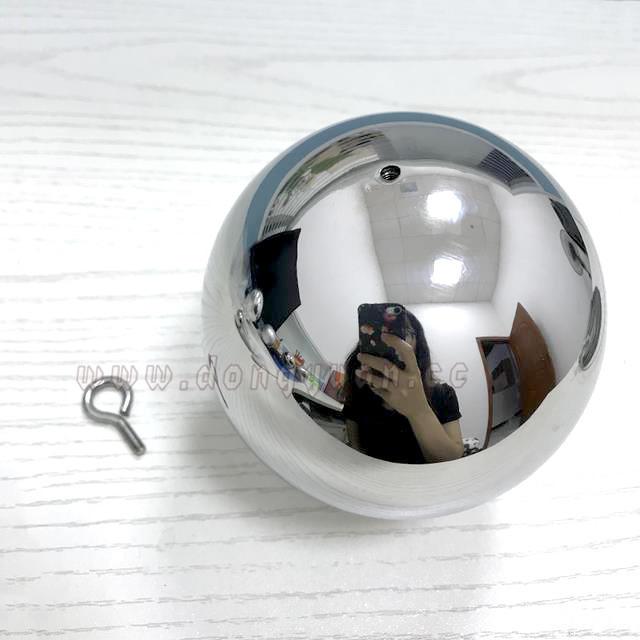 Atomium Nine Stainless Steel Clad Spheres, Metal Hollow Sphere Sculpture