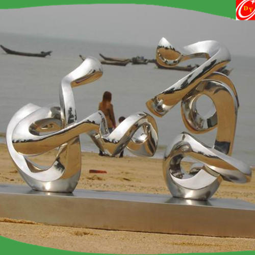 Abstract Sculpture Made of Stainless Steel