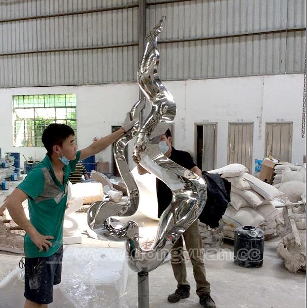 Modern Crafts 3D Dimensional Effect Stainless Steel Metal Sculpture