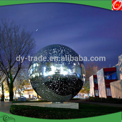 Shiny Stainless Steel Large Decoration Sculpture with Light