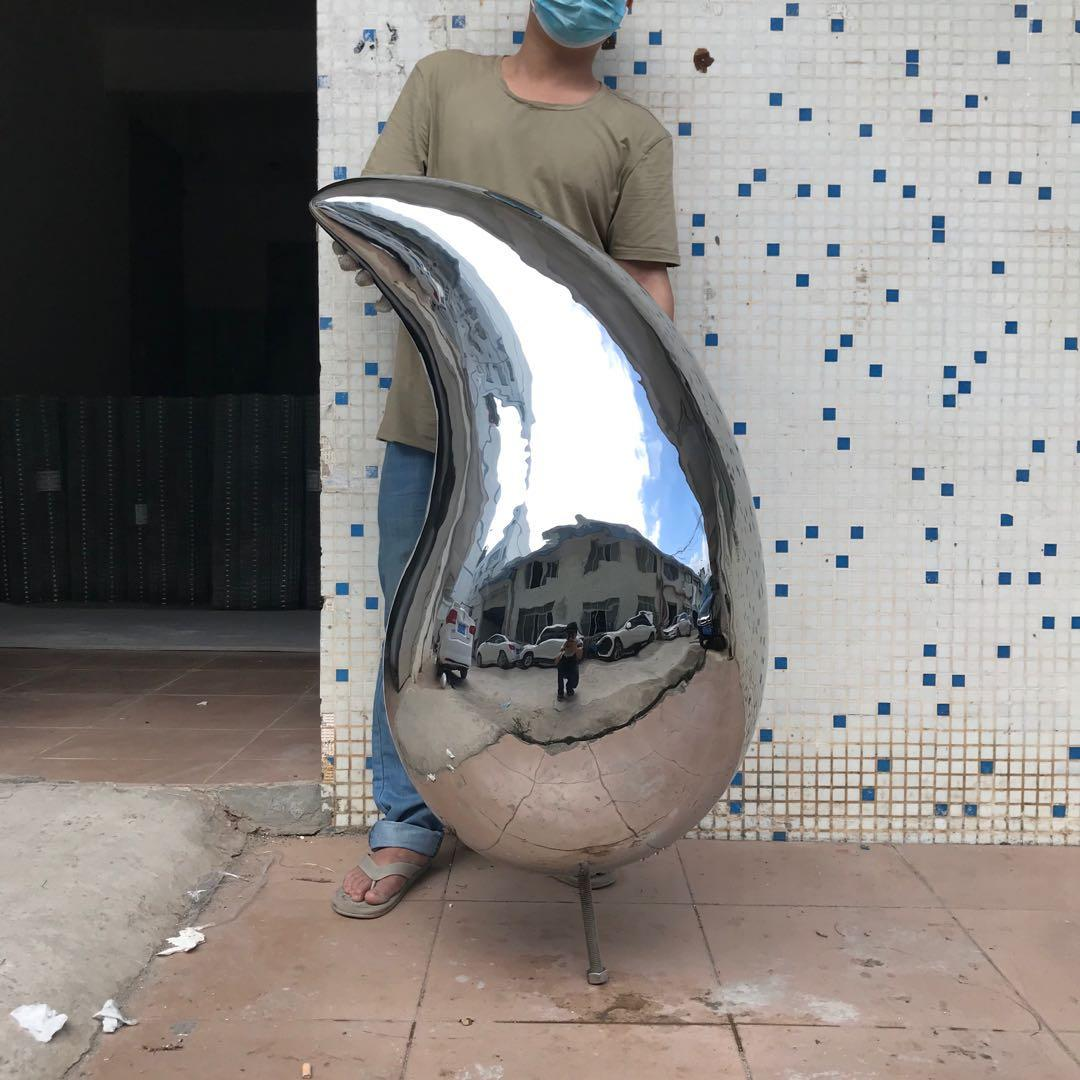 High Polished Stainless Steel Mango Sculpture for Display Crafts Decoration