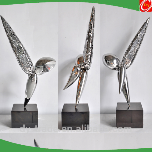 Modern abstract lovely fishes /bird stainless steel sculpture, animal sculpture