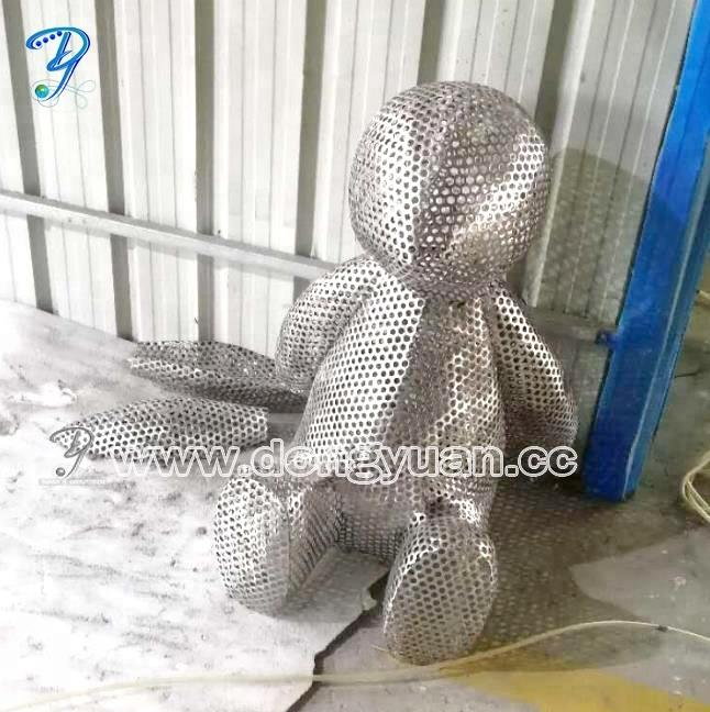 Large Stainless Steel Bunny Rabbitfor Outdoor Sculpture Decoration