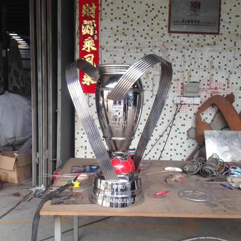 Custom Silver Polished Stainless Steel Sports Trophies