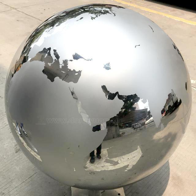 800mm Stainless Steel World Globe for Outdoor School Sculpture