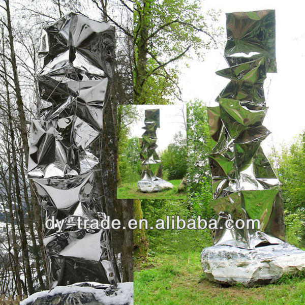 Garden irregular shape stainless steel sculpture/Custom Stainless Steel Craft
