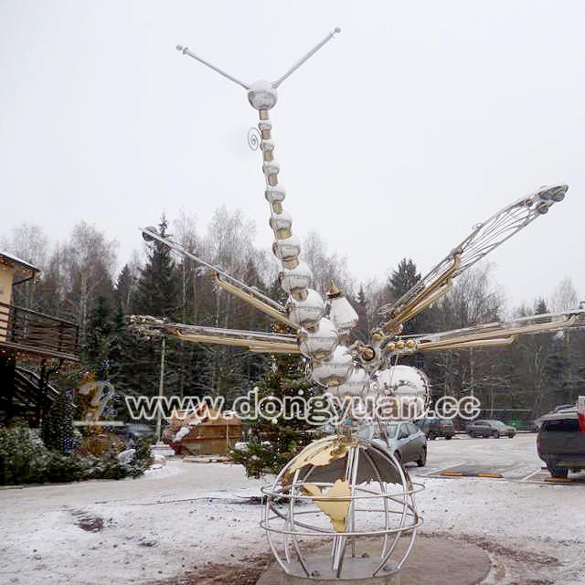 Hanging Stainless Steel Dragonfly forOutdoor Garden Decoration