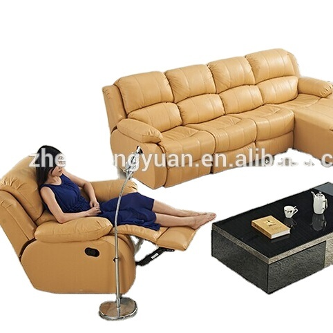 Living room furnitures Contemporary sofa Set leather Air sectional recliner sofa with chaise