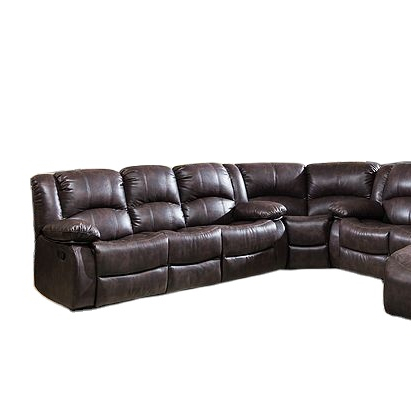2021 Comfortable Sectional Recliner Brown Sofa big couch Transitional Designed For Living Room