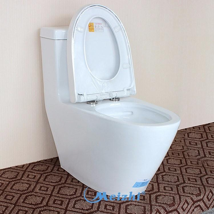 Ceramic bathroom water closet with flush type outlet
