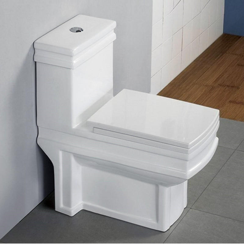 Bathroom ceramic luxury design square western toilet price