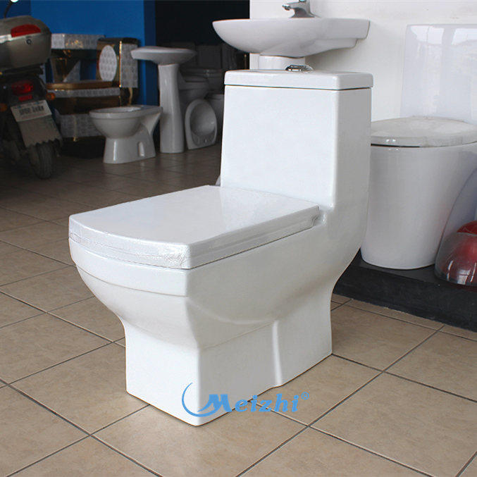 Bathroom ceramic single piece toilets