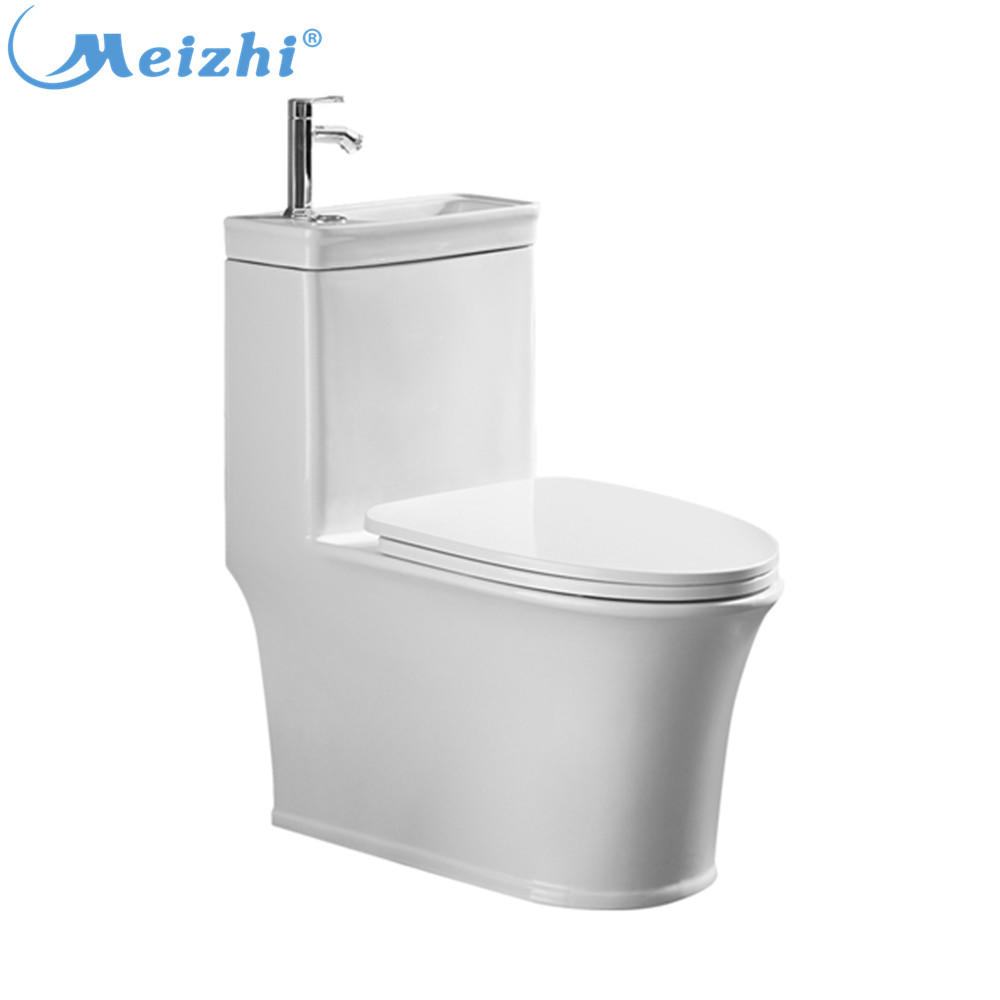 New style save water ceramic toilet seat with wash basin