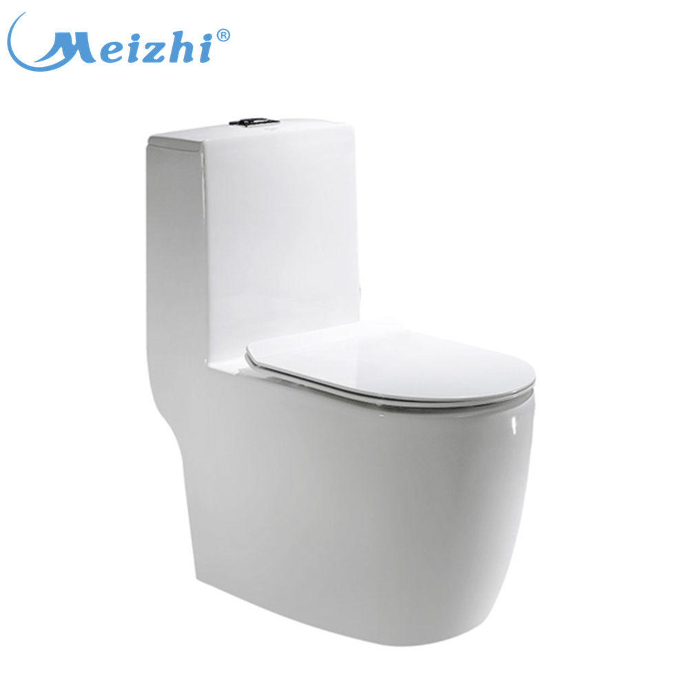 Pottery sanitary ware siphon ceramic toilet flush system