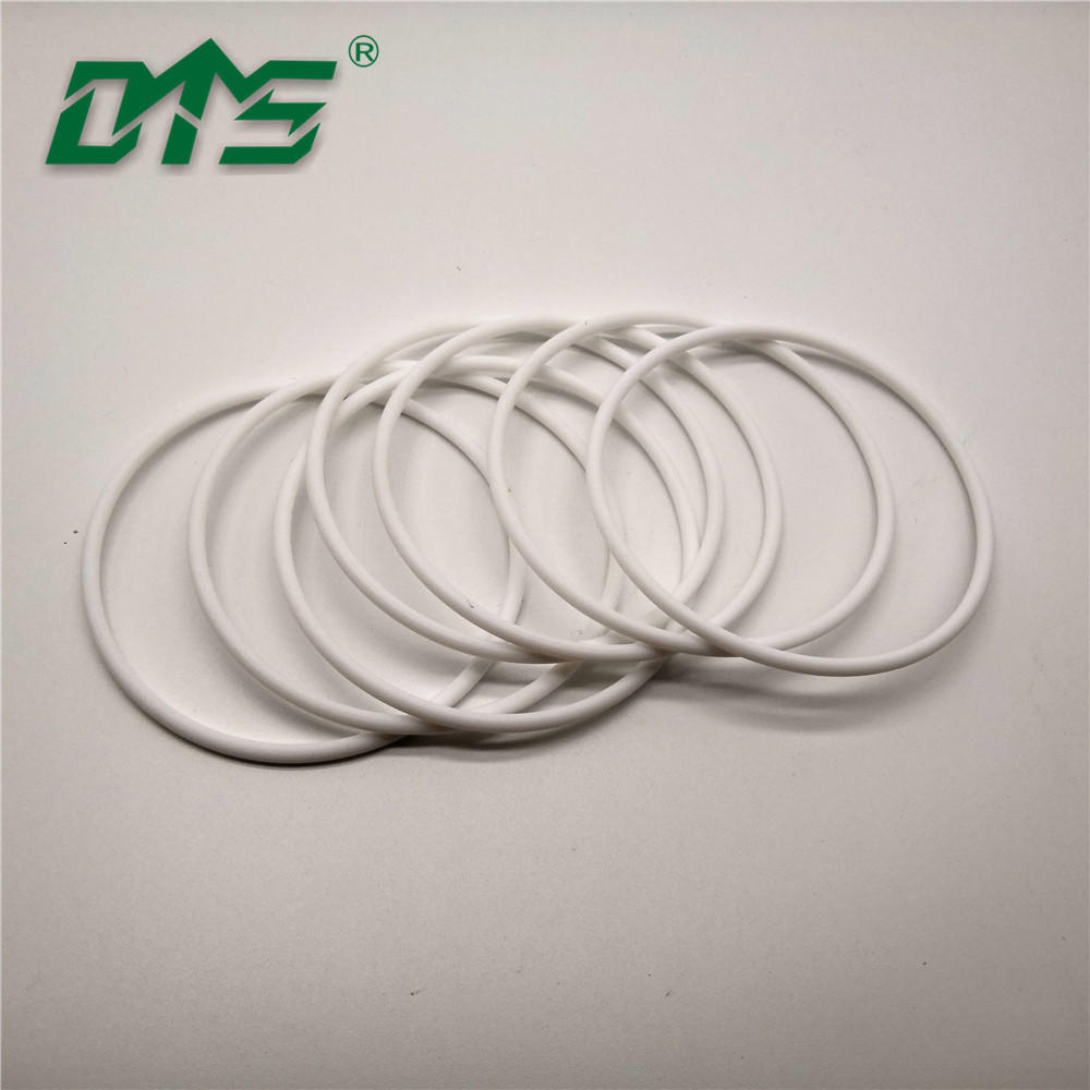 corrosion resistance plastic white virgin pure PTFE o ring by CNC process