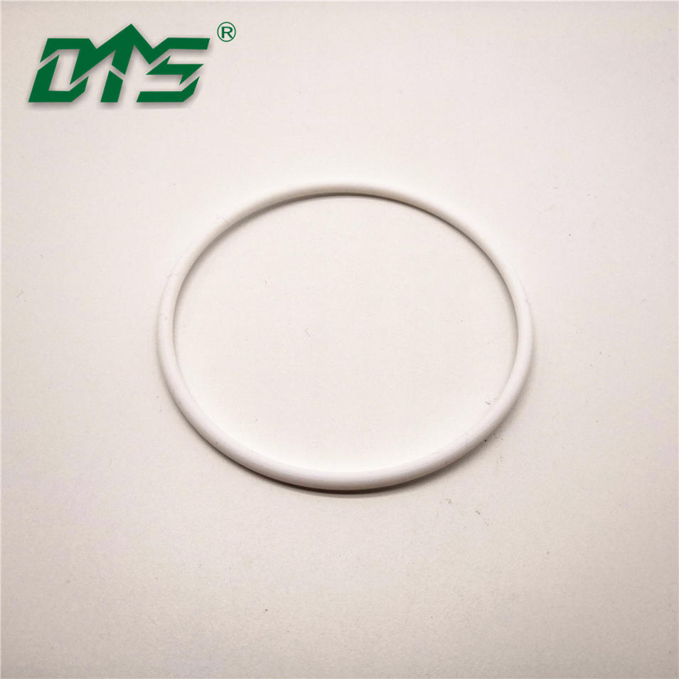 High Temperature Resistant White Virgin Pure PTFE O Ring Seal By CNC Process