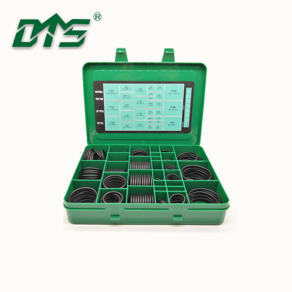 Hot Selling NBR FKM Silicone EPDMMetric 397PCSO-Ring Kit BoxFor Excavator