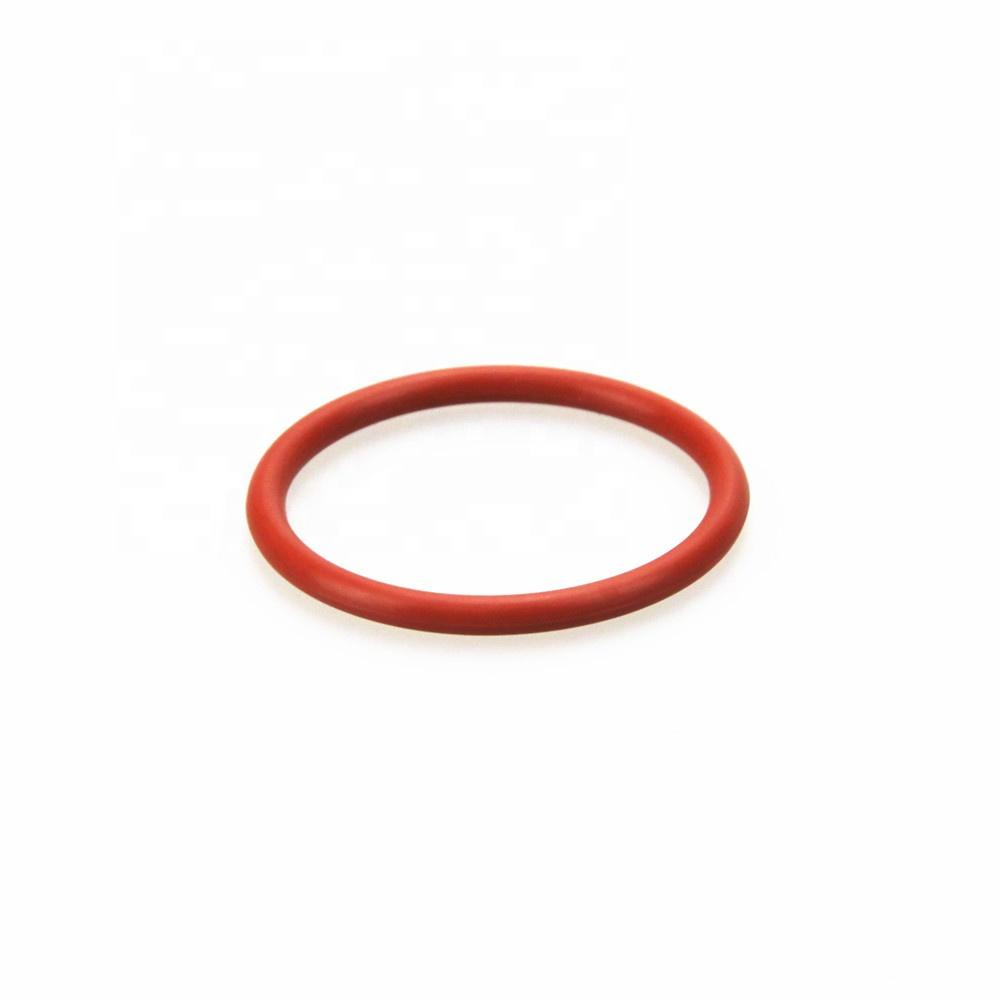heat resistant soft silicone rubber o ring with red and transparent color