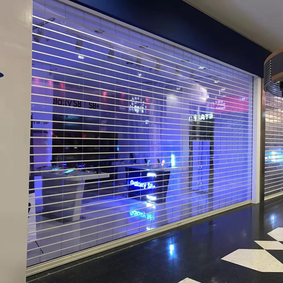 High Performance Good Vision Clear Transparent roller shutter door