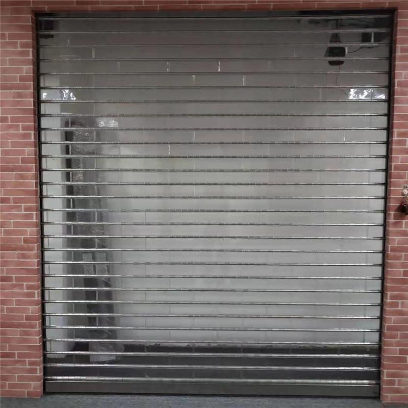 Transparent roller shutter 12*7 feet automatic polycarbonate pc door