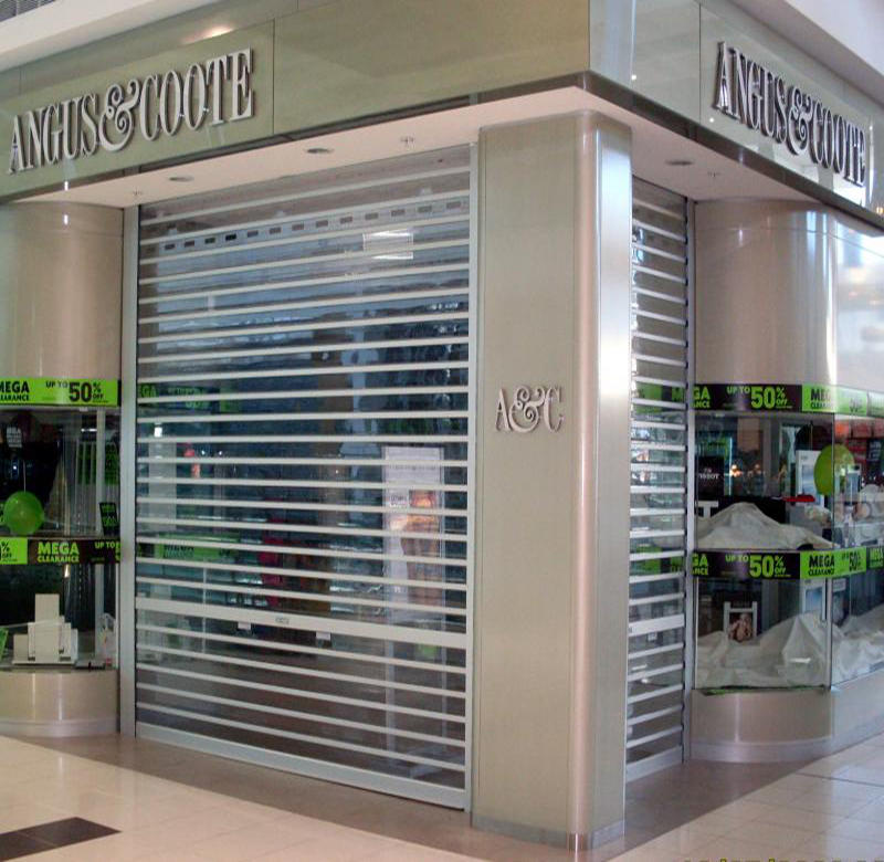 New Luxury Aluminum Rolling Clear Polycarbonate Shutter Doors