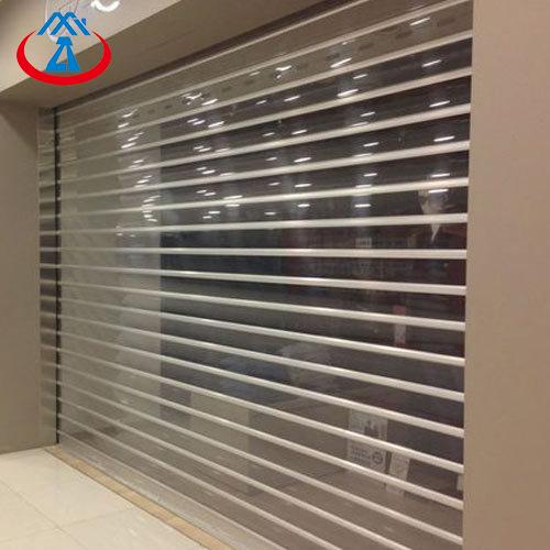 Commercial Clear Polycarbonate Slat Roller Shutter Door