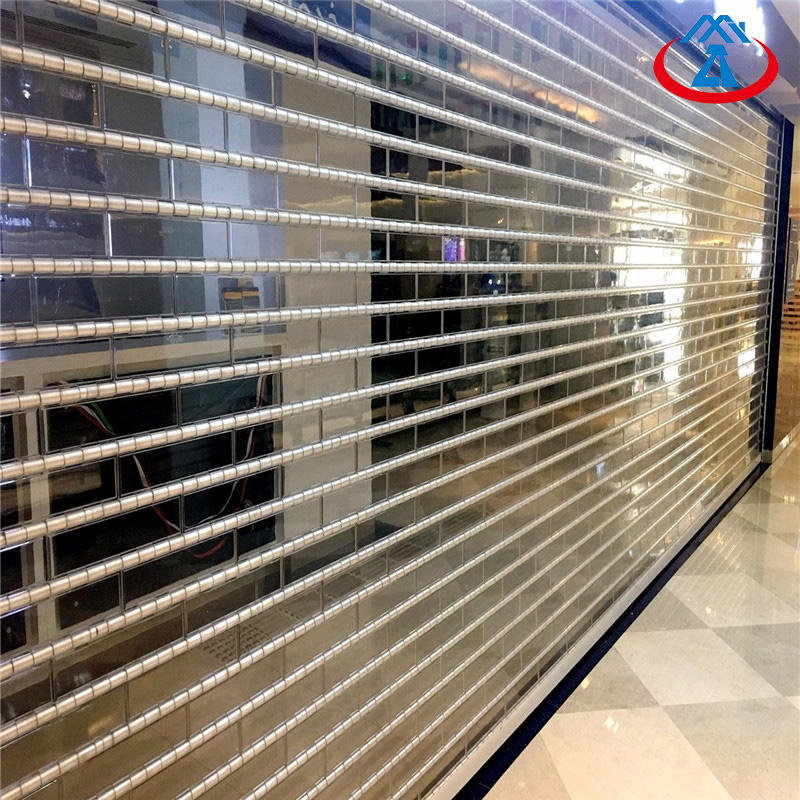 Customized Commercial Shop Transparent PC AcrylicRolling Shutter Door Free N95 Mask