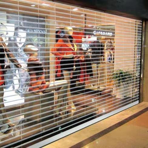Easy to install 24 Hours Display Transparent Electric Roller Shutter Door