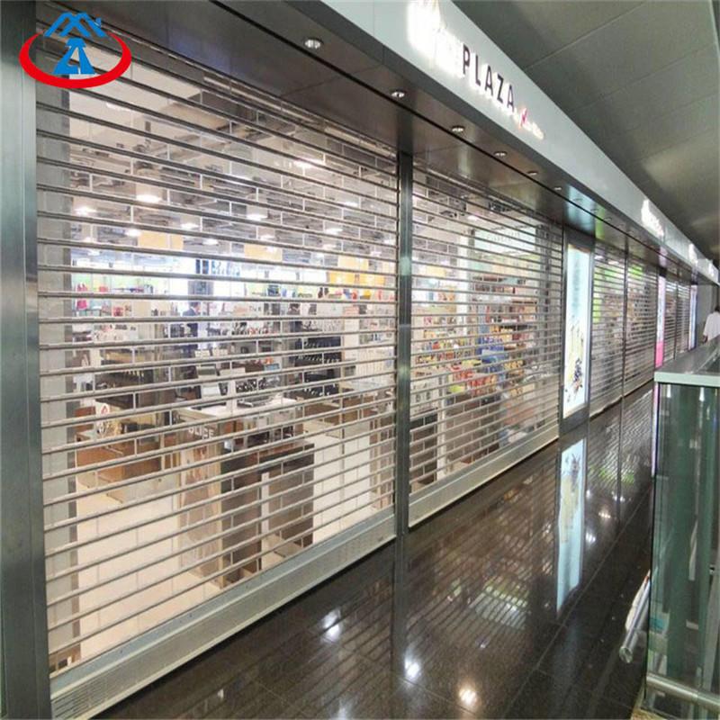 Polycarbonate transparent rolling door 8*8 feet roller shutter for mall