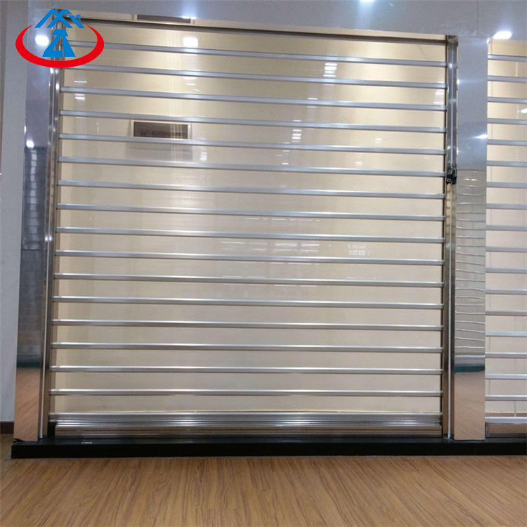 Polycarbonate Transparent Roller Shutter Door for Commercial Store PC Security Rolling Door