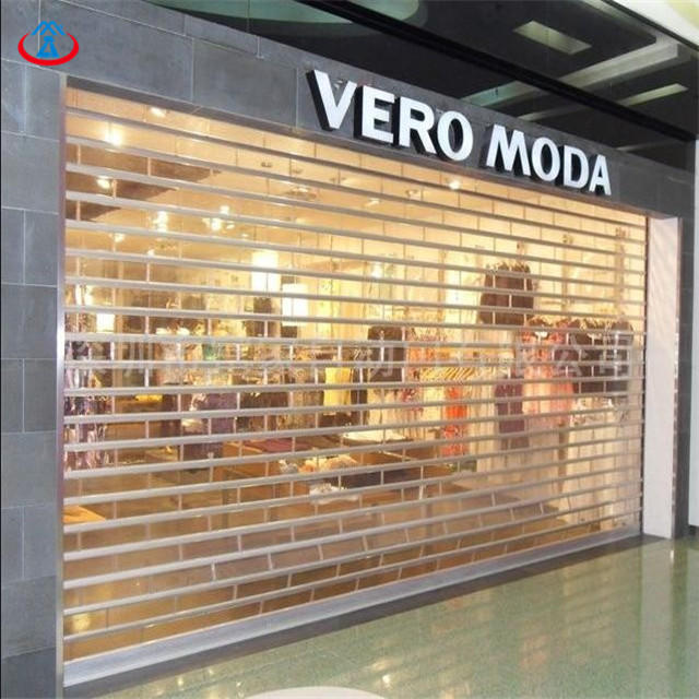 120mm Width Of The PC Slat 3000mmW*2200mmH Transparent Polycarbonate Rolling Shutter Roller Door With Motor