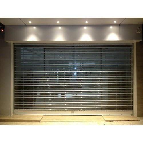 Electrical Polycarbonate Rolling Shutter Door 2.0 mm Polycarbonate Slat Profile Thickness Shutter Door