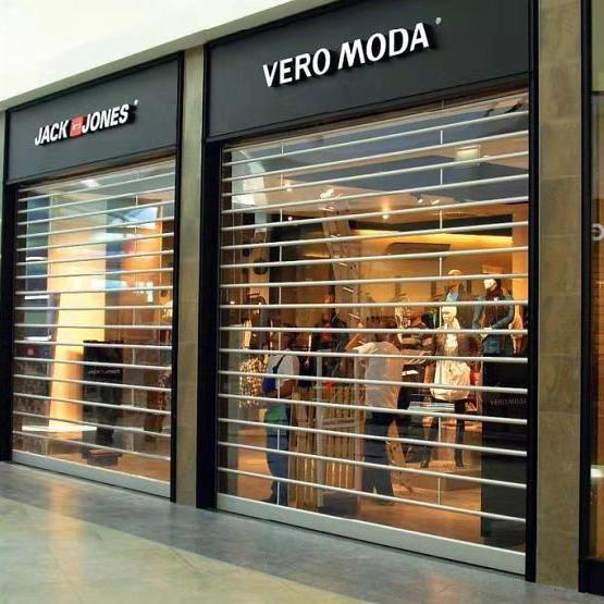 Automatic Clear Transparent Polycarbonate roller shutter for commercial shop
