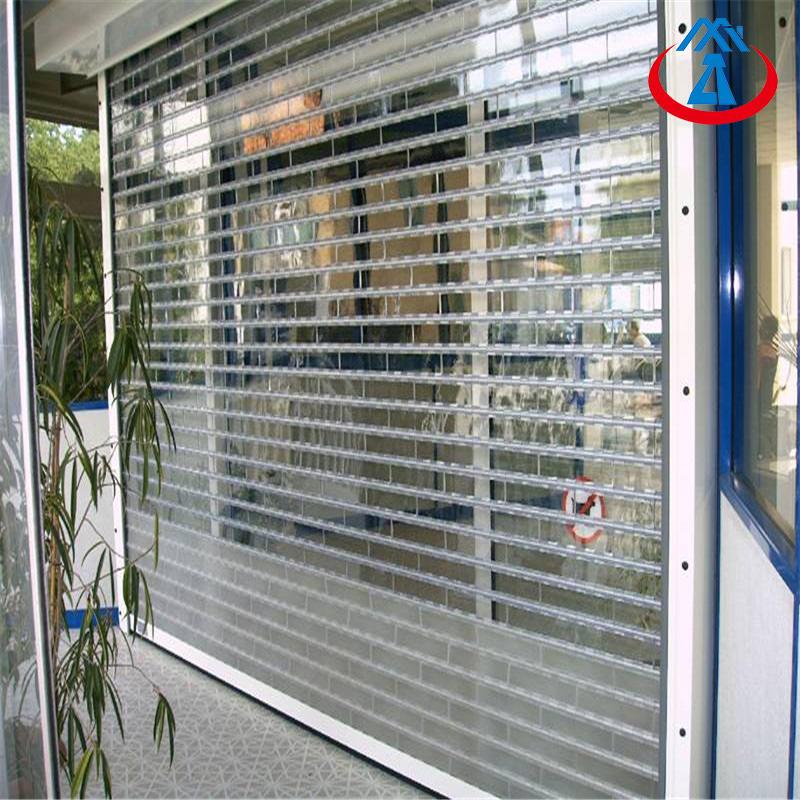 Commercial Shop Electric PC Rolling Door Crystal Rolling up Shutter Door for Sales