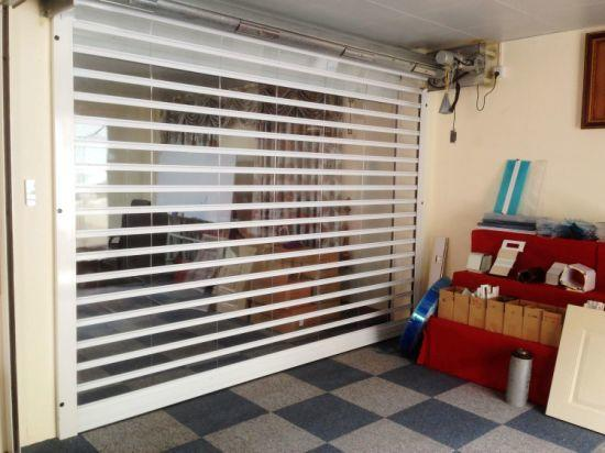 Polycarbonate Transparent Roller Shutter Door for Commercial Store PC Security Rolling Door Automatic