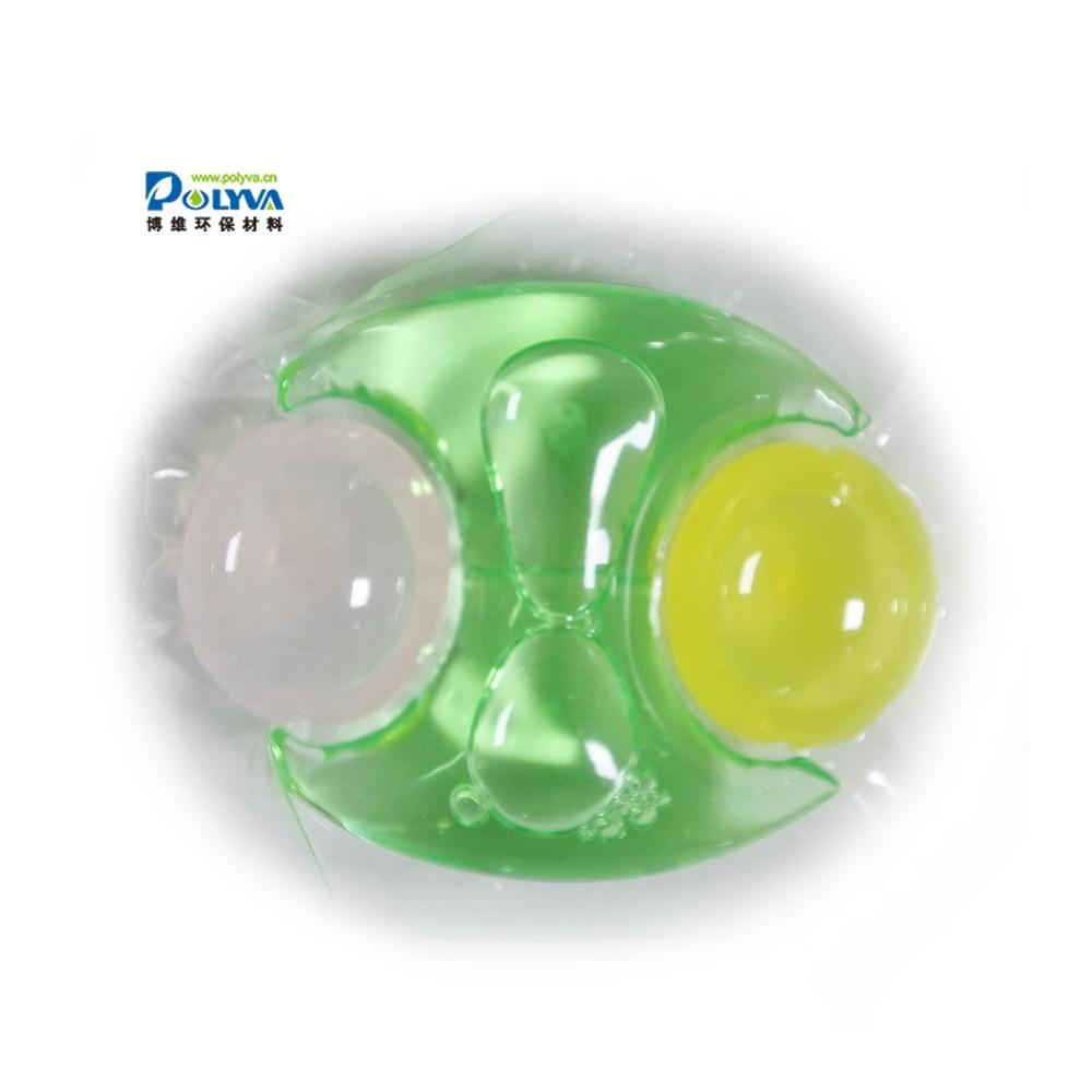 3in1 OEM special-shaped and organic liquid water soluble laundry pods for washing clothes
