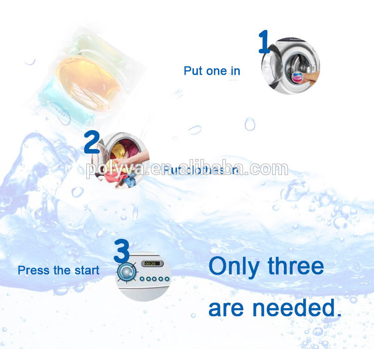 Polyva water soluble 3in1 soap liquid laundry detergent pods for washing clothes
