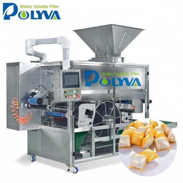 POLYVA manufacture fully automatic powder pods filling packaging machine of laundry detergent powder
