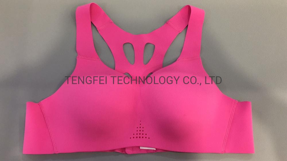 Ladies′ Seamless Laser Drilling Cross-Backed Sportswear Bra