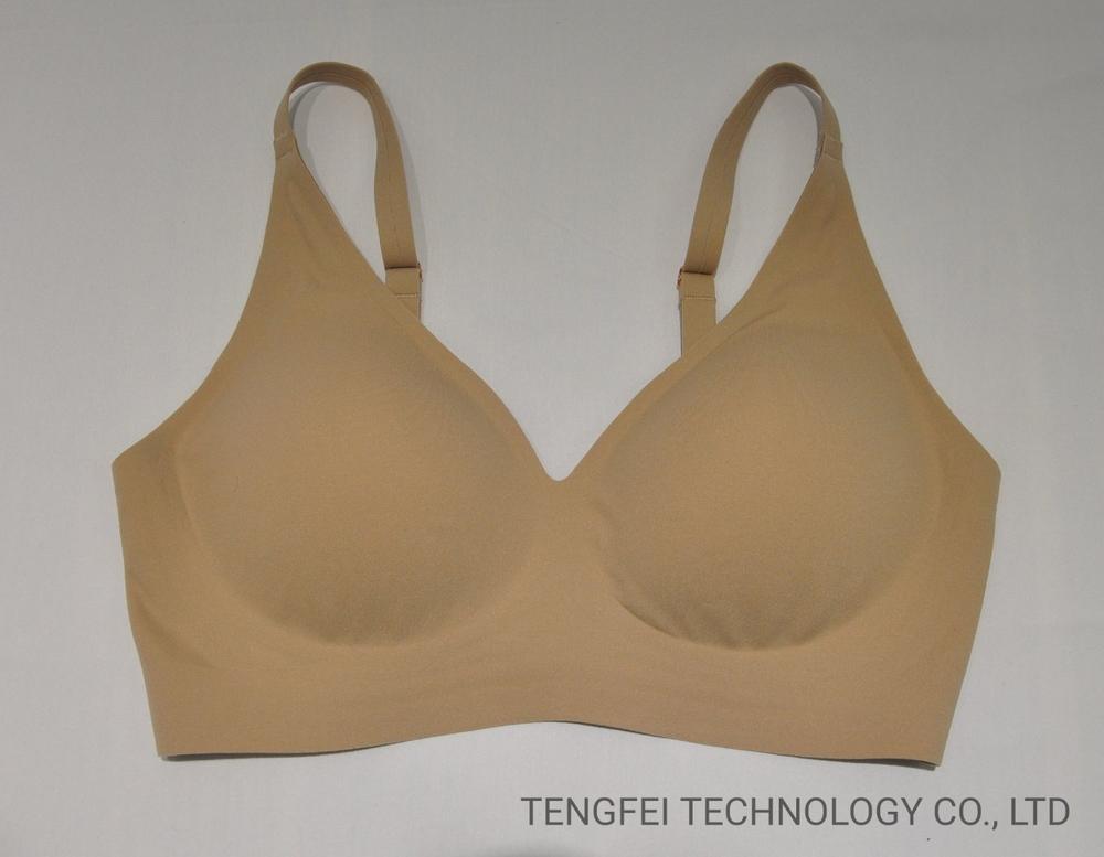 Ladies′ Senselast 3D Printing Seamless V-Neck One Piece Underwear Bra Lingerie
