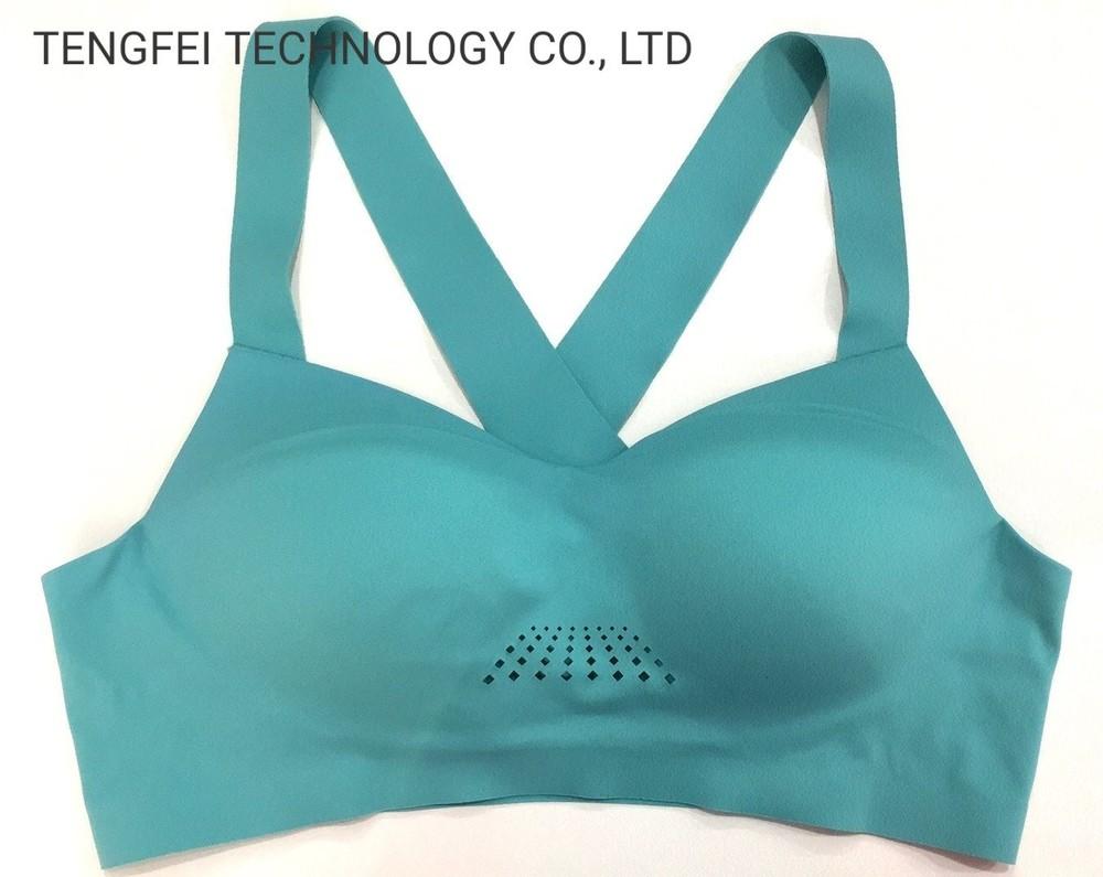 Ladies′ Seamless Laser Drilling Cross-Backed Sportswear Bra Underwear Lingerie