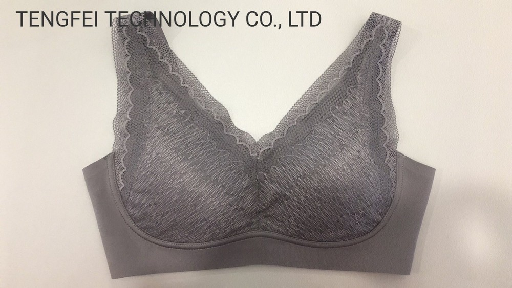 Ladies′ Seamless Sensbond Lacy Mesh Removable Sports Bra Underwear Lingerie