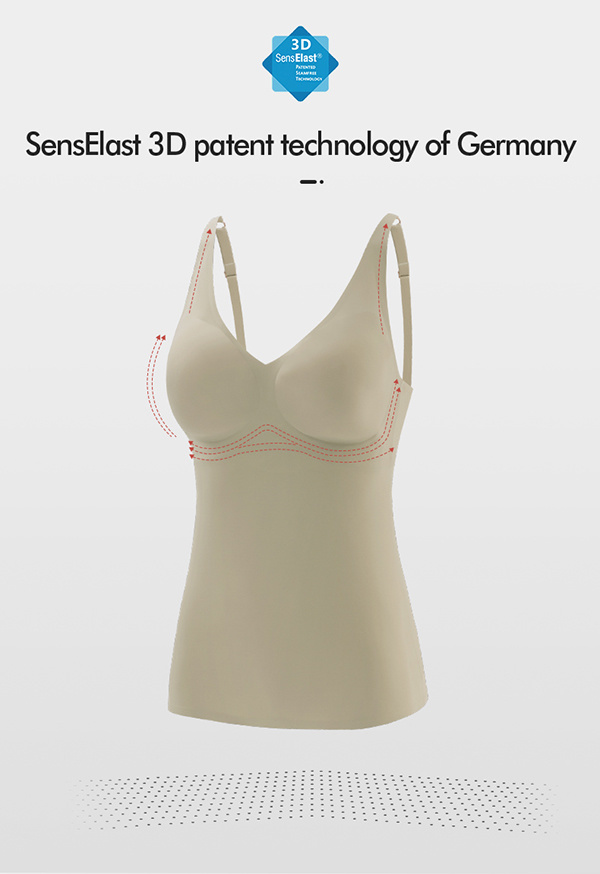 3D Senselast Seamless Super Supportive High Stretchable and Recovery Bra Vest